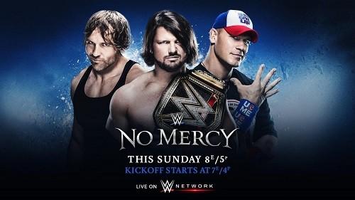 WWE No Mercy 2016 en VF + Raw/SD avant et après
